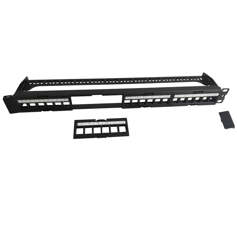 Item:19in. 1U 24 Ports Blank Patch Panel With Bar