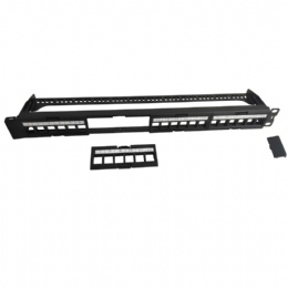 19in. 1U 24 Ports Blank Patch Panel With Bar